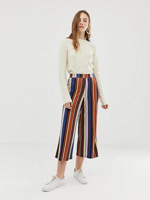 ASOS DESIGN Randiga culotte-byxor i 70-talsstil