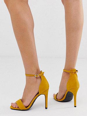 New Look Mörkgula sandaler med stilettklack Mörkgul
