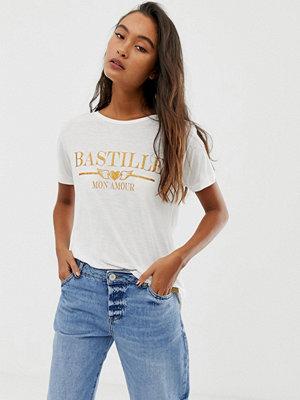 Blend She Bastille Mönstrad t-shirt Kritvit