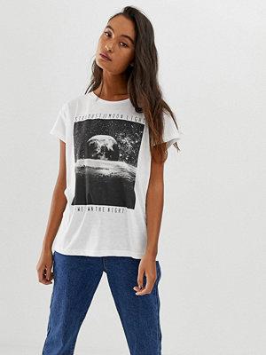 Blend She Nia moon Mönstrad t-shirt Kritvit