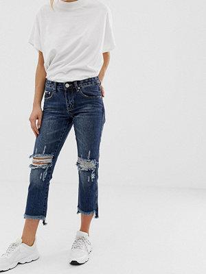 Glamorous Jeans med revor på knäna Mörk