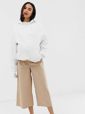 ASOS Maternity Vardagliga culotte-byxor i twill med midjeband under magen Sandfärgad
