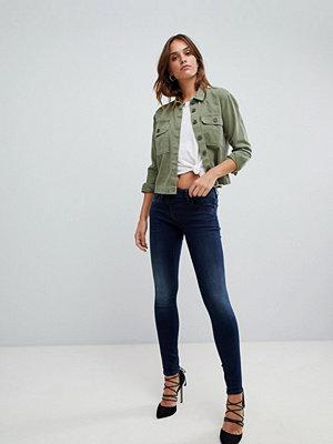 G-Star Lynn Skinny jeans med dragkedja i sidan Dk sliten