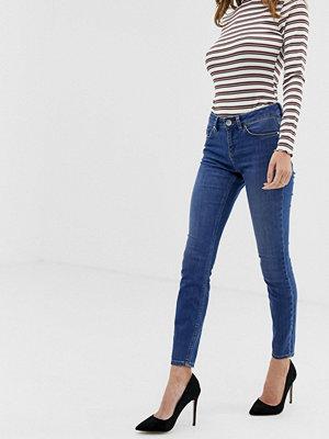 ASOS DESIGN Lisbon Blå skinny jeans med medelhög midja Klarblå tvätt