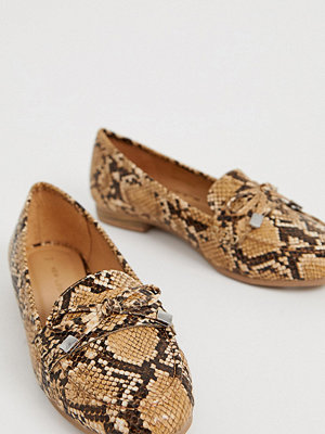 New Look Ormskinnsmönstrade loafers Mellanbrun