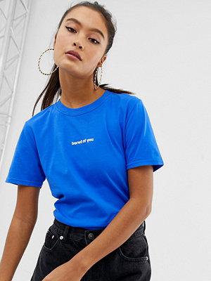 Adolescent Clothing Bored of you T-shirt Blått/vitt