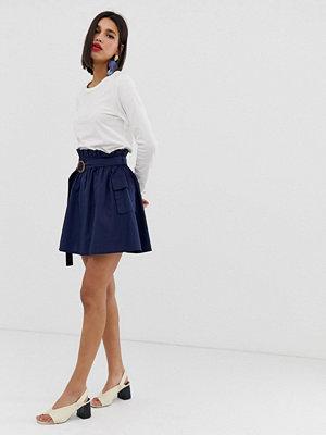Vero Moda Linneskjorta i funktionsmodell med fickor