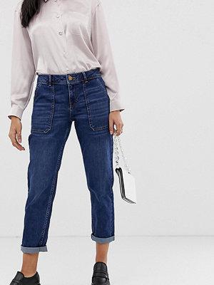 Oasis Mörktvättade jeans med raka ben