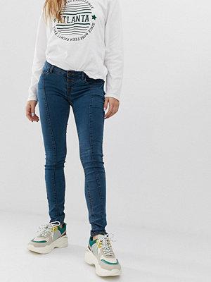 Noisy May Skinny jeans med fram söm Blå tvätt
