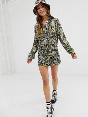 Pull&Bear Ormskinnsmönstrad kjol