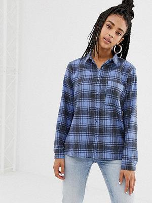 Daisy Street Rutig vintageinspirerad flannellskjorta i oversize-modell Vintage-blå