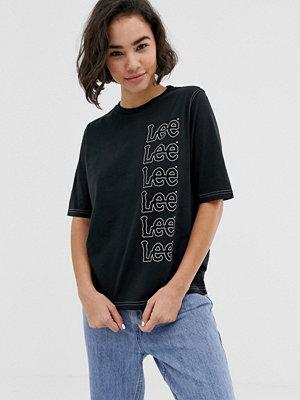 Lee Jeans Lee seasonal repeat t-shirt med logga Faded black