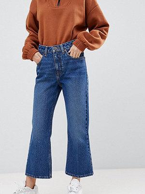 ASOS Petite Egerton Ankellånga mörkblå flare jeans Mörkblå