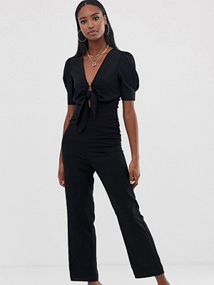 Fashion Union Tall Jumpsuit med knytning framtill