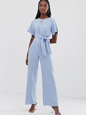 Jumpsuits & playsuits - Missguided Tall Blå jumpsuit med knytdetalj
