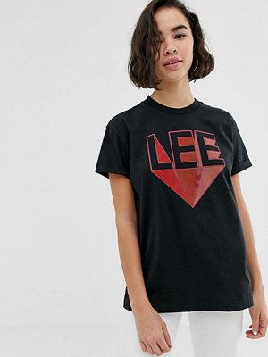 Lee Jeans Lee T-shirt med logga i retrostil Faded black