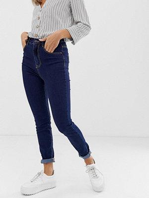 Pimkie Mörkblå skinny jeans med hög midja