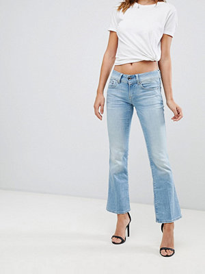 G-Star Midge Saddle utsvängda jeans Lt aged