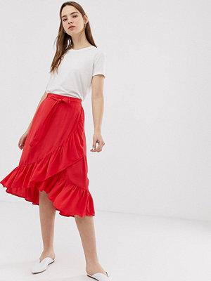 Kjolar - Minimum Omlottkjol med rynkning Äkta röd