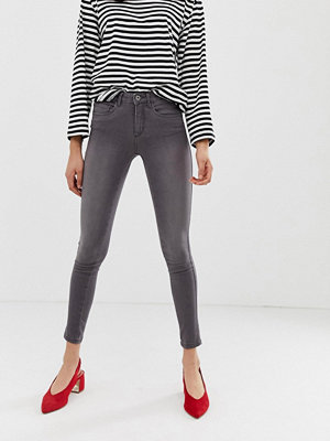 Only Royal Skinny jeans Mellangrå