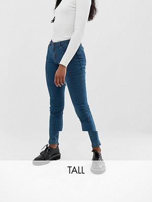Noisy May Tall Skinny jeans med söm framtill Mellanblå