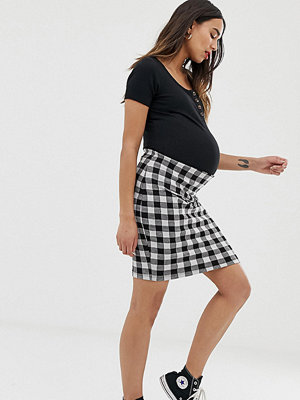 New Look Maternity Tubkjol i gingham