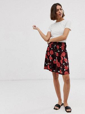 Ichi Blommig kjol Fudge print