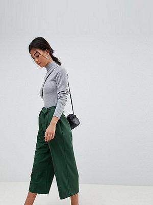 ASOS Petite Mixa & matcha Culotte-byxor med knytband i midjan Skogsgrön