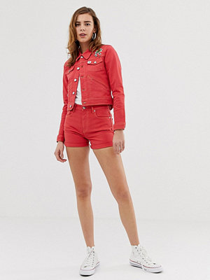 Pepe Jeans Betties Röda jeansshorts Mars-röd