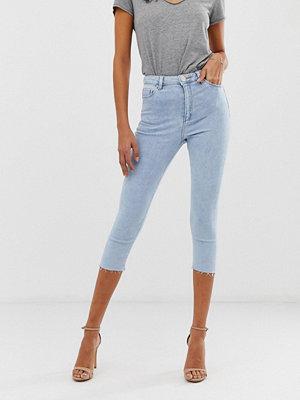 ASOS DESIGN Ridley Ljusblå ankellånga skinny jeans med hög midja Ljusblå