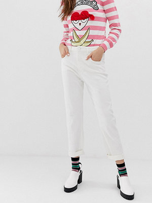 Love Moschino Vita somriga skinny jeans A00 vit