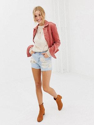 Glamorous Broderade jeansshorts Light