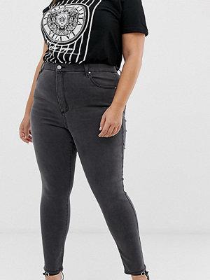 ASOS Curve 'Sculpt me' Mörkgrå jeans med hög midja Dark smokey grey