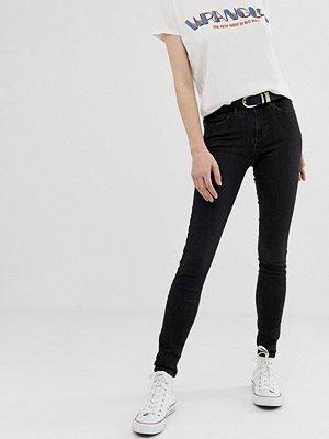 Wrangler Skinny jeans med hög midja Used black