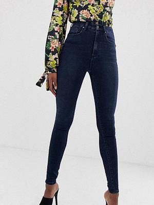 Asos Tall 'Sculpt me' Mörkblå jeans med hög midja Blackned blue