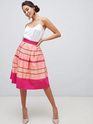 Closet London Closet Plisserad kjol med randig fåll