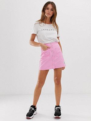 Calvin Klein Jeans Kjol med knappar och logga Begoniarosa