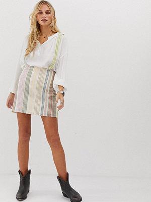 En Crème En Creme Pinafore Randig bodycon-kjol
