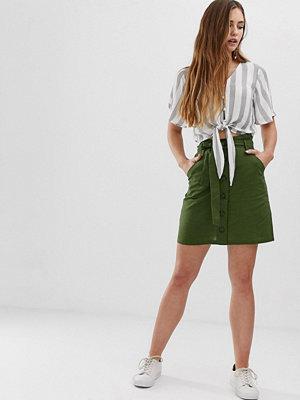 Brave Soul Lizi Funktionell kjol med knäppning Kakifärgad