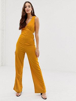 Ax Paris Senapsfärgad jumpsuit Mustard senapsgul