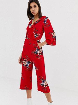 Ax Paris Blommig jumpsuit med lång ärm