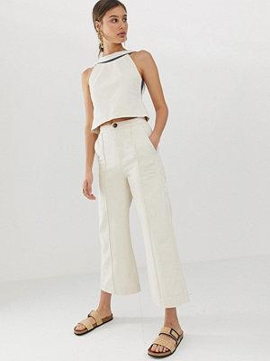 ASOS White Jeans med vida ben