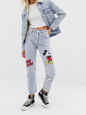 Levi's X Mickey Mouse 501 Ankellånga jeans Cat and mouse
