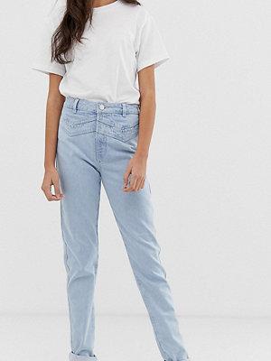 Asos Tall Ritson Ljusa vintagetvättade mom jeans med dubbelt ok Ljus vintagetvätt