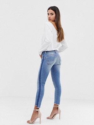 Salsa Formande skinny jeans med push-up-effekt Blekt