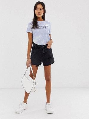 "New Look Svarta shorts i ""mom""-modell"