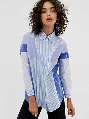 ASOS White Skjorta i blandade ränder
