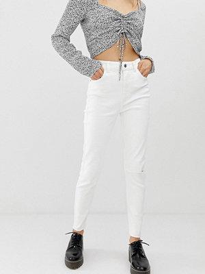 Bershka Vita jeans med extra hög midja