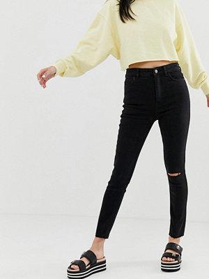 Bershka Svarta jeans med extra hög midja