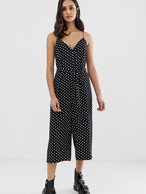 Miss Selfridge Prickig jumpsuit med smala axelband
